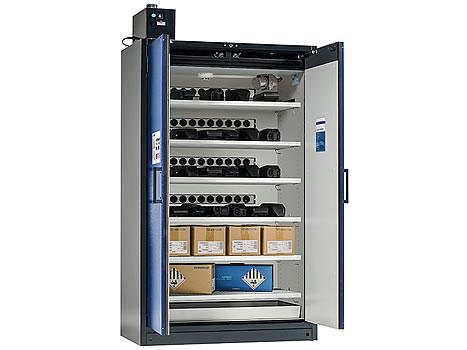 Armoire de stockage et charge sécurisés pour batteries lithium-ion